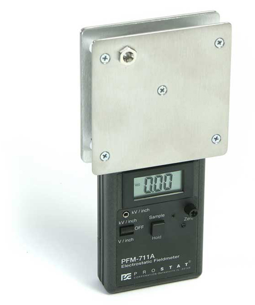 The Prostat CPM-720A converts the PFM-711A Field Meter into a portable, battery operated charged plate monitor (CPM).
